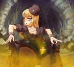 1_girl amyl black_eyes blonde_hair brave_and_stinker_(series) brown_gas dress dress_lift fart from_behind lanternmoray_(artist) looking_at_viewer looking_back panties pantyhose solo underwear  rating:Safe score:1 user:Indricothere