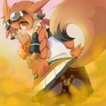 blush brown_eyes class_of_heroes cute dwarf fart fox monstergirl upskirt  rating:Safe score:6 user:nyou