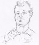 /loomis/ 1boy bill_murray bust groundhog hand_gesture monochrome pencil_drawn text  rating:Safe score:0 user:ourobooru