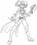 age:_adult androgynous crossbow female jewelry knife lineart short_hair weapon  rating:Safe score:0 user:pobooru
