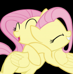 clone equine eyes_closed fluttershy generation_4 high_res hug mare pegasus pink_hair smile vector wings yellow_body  rating:Safe score:0 user:Radiant☀Meadows