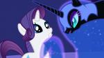 3/4 alicorn mare nightmare_moon rarity unicorn worried  rating:Safe score:0 user:RainbowRage
