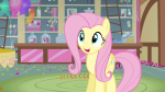 3/4 balloon candy confetti eager expression fluttershy happy mare pegasus s03e13 solo talking  rating:Safe score:0 user:Pix3M