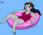 1girl clothed dezzone feferi_peixes ladyboners solo swimsuit tagme  rating:Explicit score:0 user:SodaJerk72