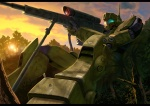 forest gm gm_sniper_ii mobile_suit_gundam mobile_suits rifle sniper_rifle sunset wear_and_tear  rating:Safe score:1 user:Roflcopter419