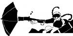 anime girl glasses gun maid umbrella  rating:Safe score:0 user:stencil