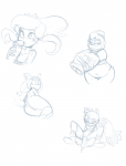 badger check_source_tab explicit freshly_drawn ghost heart idw_comics jewelry kayla-na_(artist) lady_walrus lah lemur necklace request sketch sonic_boom sonic_unleashed sticks_the_badger tangle_the_lemur walrus  rating:Explicit score:0 user:Archetype