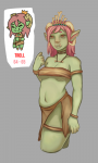 green_skin pink_hair tagme troll troll_princess  rating:Questionable score:0 user:MikailM713