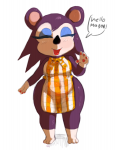 animal_crossing colored labelle naked_apron wide_hips  rating:Questionable score:0 user:HexMix