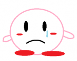 crying frown kirby kirby_(series) mspaint sad  rating:Safe score:0 user:Paper