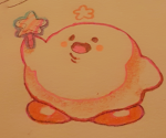 colored happy kirby kirby_(series) star star_rod tradtional_medium  rating:Safe score:1 user:Paper