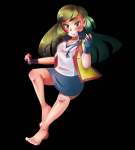 ace_trainer barefoot green_eyes green_hair rf_(artist) skirt tagme toes  rating:Questionable score:0 user:Nobody89