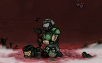 caco-bro_(artist) cacodemon doomguy halo hell master_chief  rating:Questionable score:0 user:SmugglyDumplings