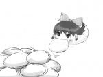 artist:eaaki eating koyukkuri manju reimu simple_background  rating:Safe score:0 user:jogiff
