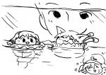 anon aquatic_marisa aquatic_yukkuri artist:rorinko chen marisa nitori  rating:Safe score:0 user:game2010