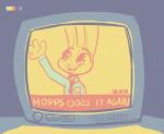 artist:fuel character:judy_hopps doe solo species:rabbit television text thematic_thursday tie tt tt_late_night_tv uniform waving  rating:Safe score:0 user:ForgetfulBadger