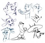 artist:fuel character:chico character:oliver character:taylor moustache oc species:fox species:gazelle species:otter species:swift_fox species:tiger topless vixen zoosona  rating:Safe score:0 user:JAKXXX3