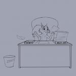 1:1_aspect_ratio artist:nemo chair character:nemo_nutkin desk paper pencil solo species:squirrel text trash  rating:Safe score:0 user:tangerine