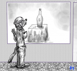 5/5 artist:rt bottle character:stan hat littlest_hustlers monochrome oc species:wolf table toque window  rating:Safe score:0 user:RT_Pilon