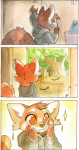 artist:rose box comic red_panda rose sleepyhead solo sparkles tired yawning  rating:Safe score:0 user:ForgetfulBadger